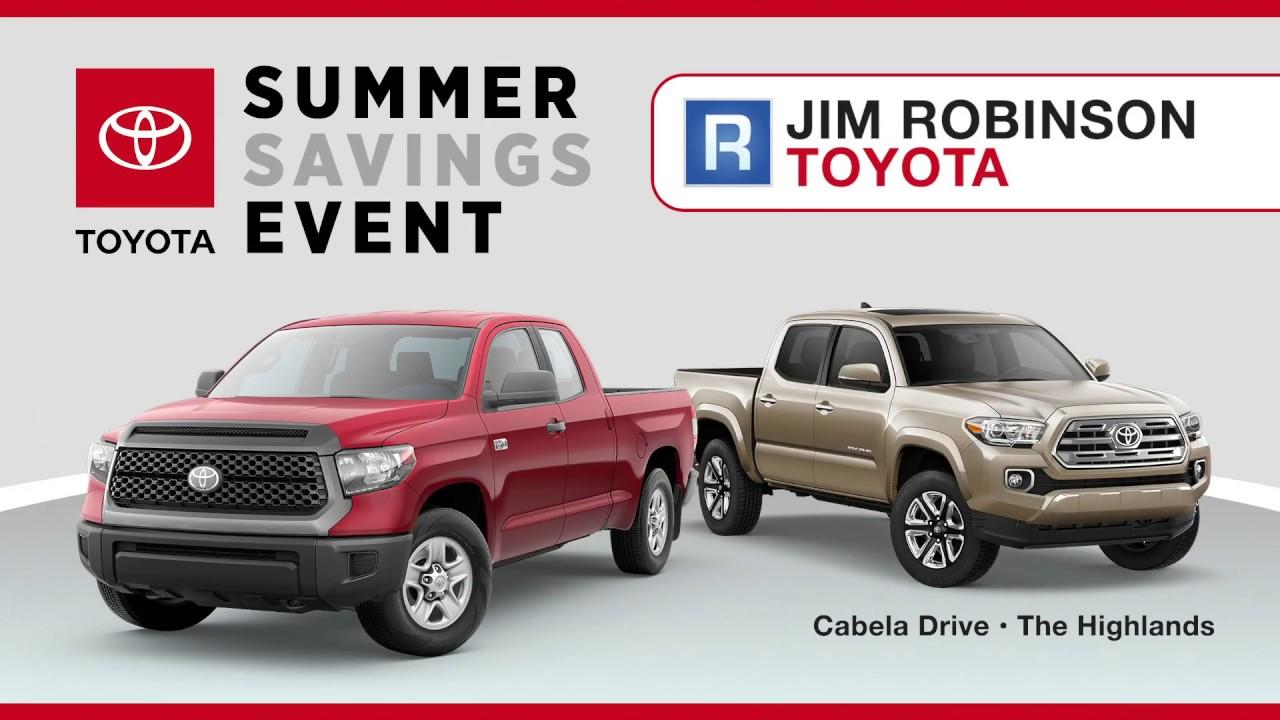 Jim Robinson Toyota >> Jim Robinson Toyota July Promo 2 Youtube
