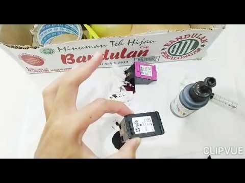 Cara Isi Ulang Tinta Printer HP Deskjet Adventage 2135 - Reffil HP Deskjet 2135.
