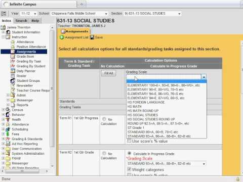 Infinite Campus Assignments tool for High School/Middle ...