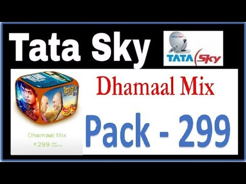 Tatasky Dhamaal Mix Pack 299 Details In Hindi All Channel Details