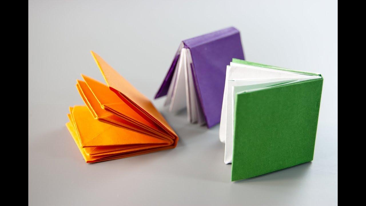 Como hacer un mini libro de papel | Origami Book - YouTube