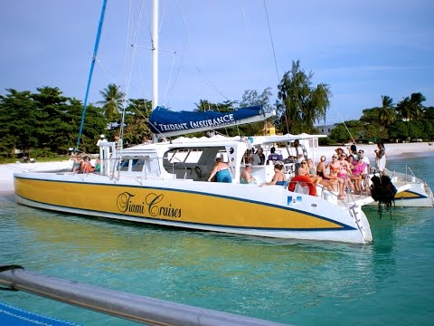 A great day in Barbados; take a Catamaran Cruise on your sports tour