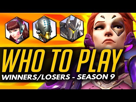 Overwatch | Who To Play in Season 9 + Sombra Meta?! (Winners and Losers!)