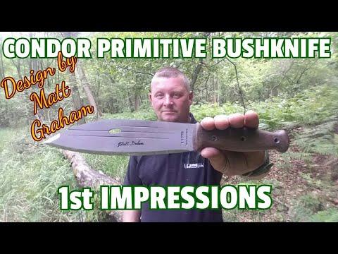 ✔CONDOR PRIMITIVE BUSHKNIFE FIRST IMPRESSIONS  (Design: Matt Graham / Dual Survival) GERMAN LANGUAGE