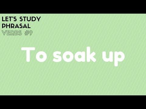 Let's Study Phrasal Verbs #9 - Soak up
