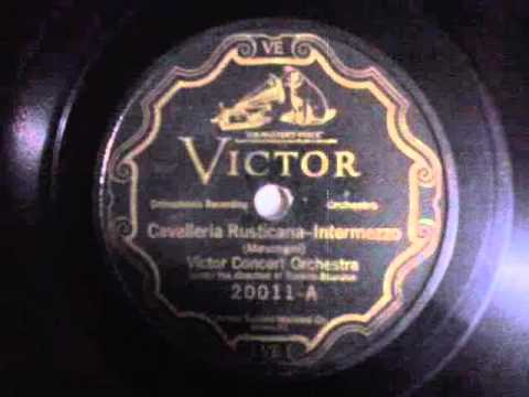 "CLASSICAL RECORD 1926  (Victor Concert Orchestra: ""Cavalleria Rusticana"" / ""Tales Of Hoffman"")"