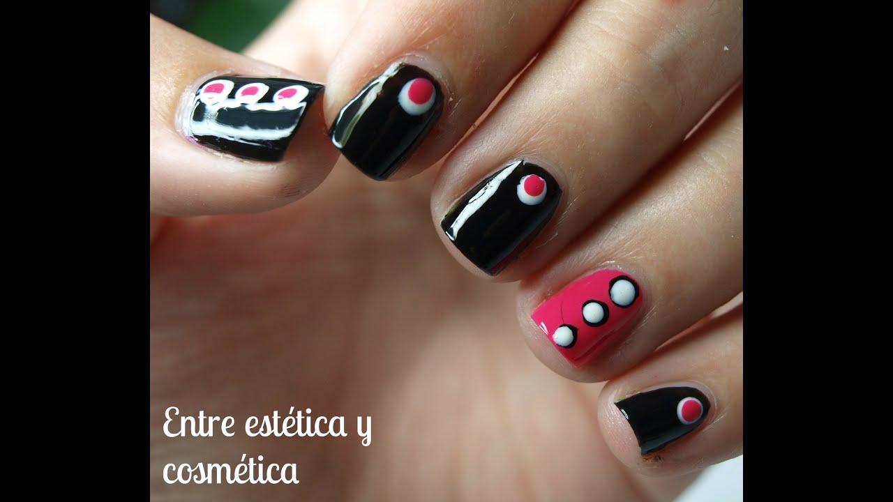 Dots Nails , Decoración de uñas fácil con puntos