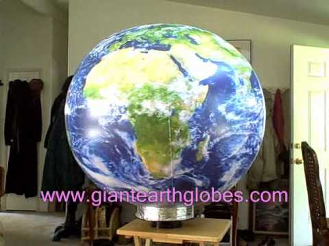 Inflatable Earth Globe Revolving Display ~ www.GiantEarthGlobes.com