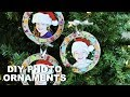 Easy DIY Photo Christmas Ornaments