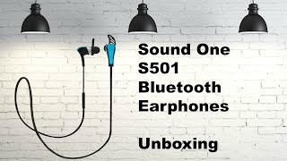 Quick Unboxing and Pairing - Sound One S501 Bluetooth Earphones