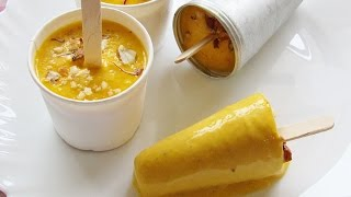 Mango Kulfi - No Cook Easy Mango Kulfi Recipe - Indian Mango Ice Cream - Indian Recipes - Nisa Homey