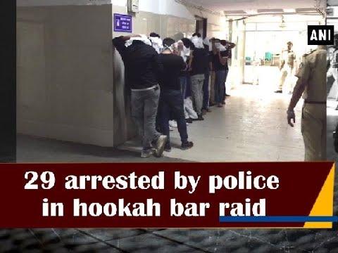 29 arrested by police in hookah bar raid - Gujarat News