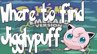 Where to find Jigglypuff on Pokemon Emerald