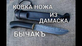 Damascus KNIFE BICHAK