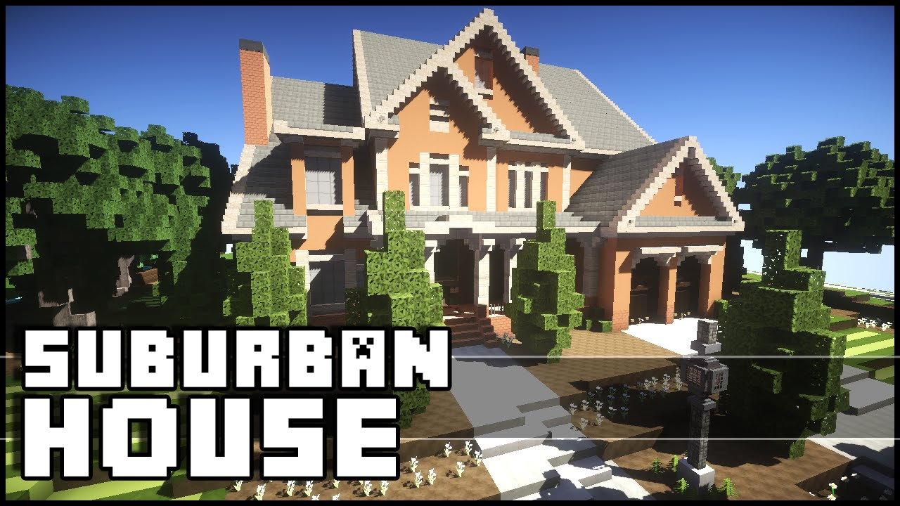 Minecraft Beautiful Suburban House Youtube