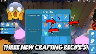 THREE NEW CRAFTING RECIPES UNBOXING SIMULATOR! | Roblox