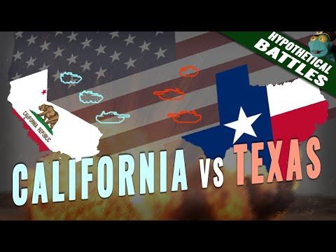 Texas vs California: Who'd win a hypothetical war? (2020)