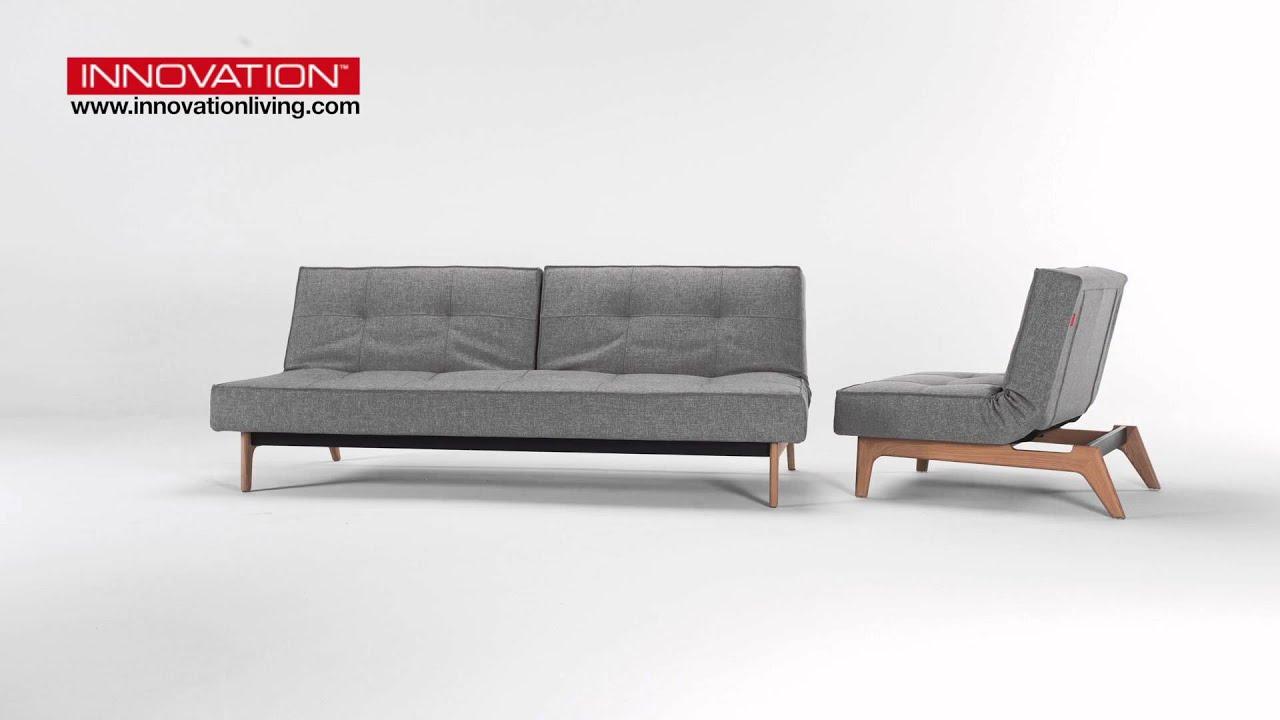 splitback eik schlafsofa sessel von innovation youtube. Black Bedroom Furniture Sets. Home Design Ideas