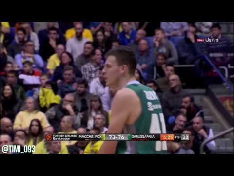Ante Zizic Highlights vs Maccabi (14 pts, 9 reb)