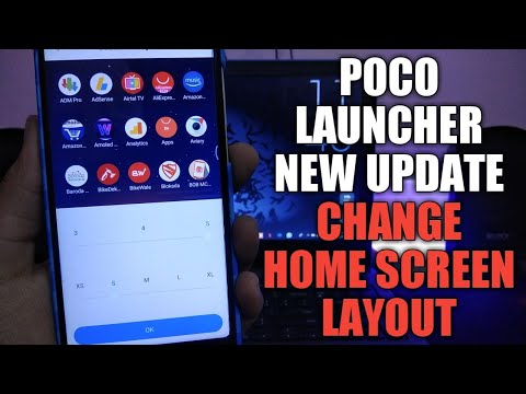 NEW POCO LAUNCHER UPDATE   NOW CHANGE HOME SCREEN LAYOUT AND ICON SIZE    BUGS FIXED   POCO UPDATE