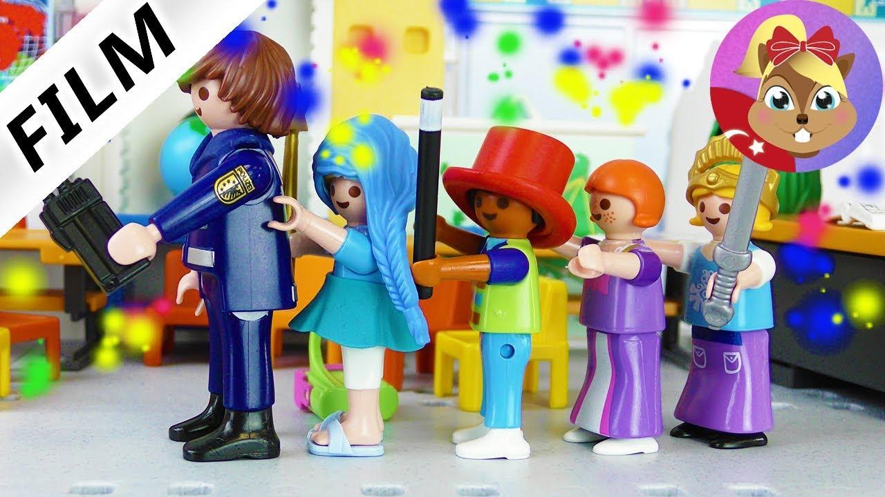 Playmobil hikayeleri - Okulda Kostüm Partisi! Çocuklar ...