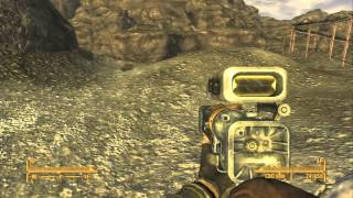 Fallout NV - Trying out Laser Rifle with Scope