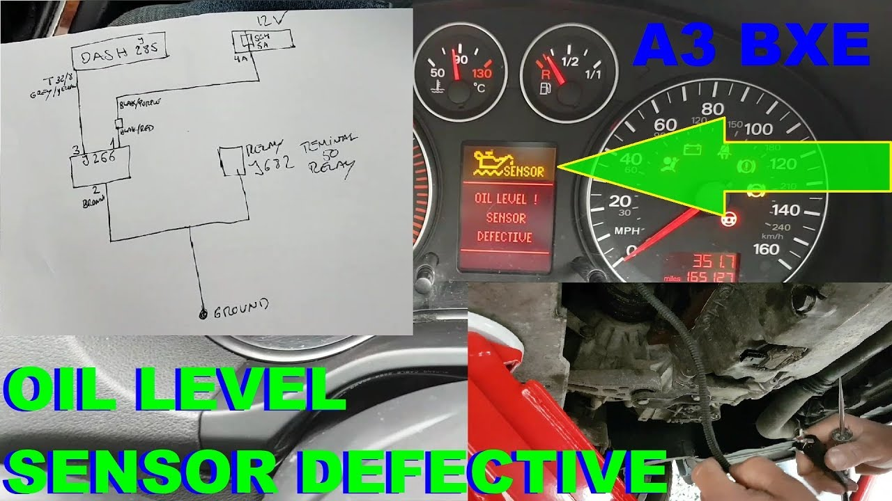 Audi A3 1 9tdi 8p Oil Level And Temperature Sensor Fault Fault Finding And Repair Youtube