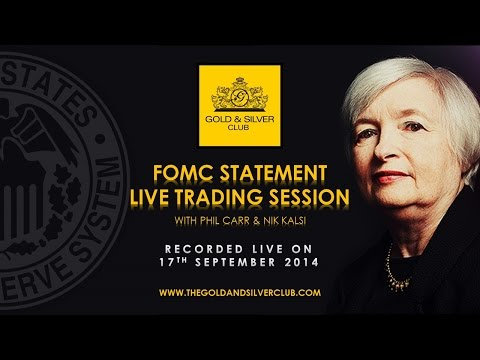 The Gold & Silver Club | Commodities Trading | 114 – FOMC Statement Live Trading Session