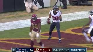 Justin Reid 101 Yard Pick Six | Texans vs. Redskins | NFL