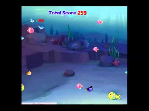 Игровое видео Рыба ест рыбу и растет