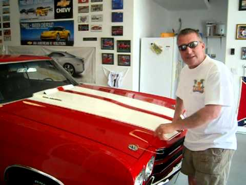 70 Chevelle 454 SS Cowl Induction Hood - YouTube