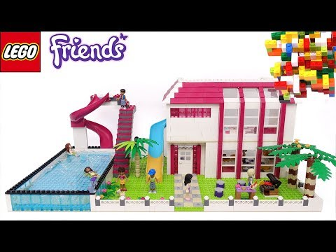 Lego Friends Great House Toboggan Pool Part 12 By Misty Brick