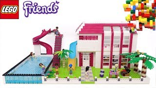 Lego Friends Great House, toboggan, pool, PART-1&2 by Misty Brick.