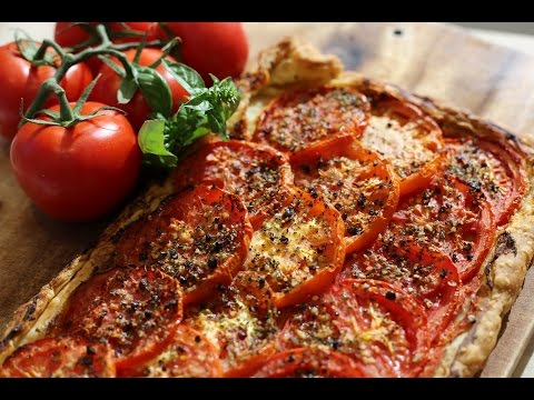 Tomato Tart  - Summer French cuisine - Vegetarian Dishes  - Easy Recipe
