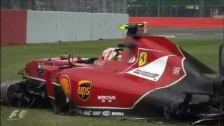 ''Oh fuck'' Räikkönen's team radio British GP 2014