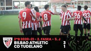 ⚽ Resumen I 2. Fasea – 5. J - 2ªDiv B I Bilbao Athletic 3-1 CD Tudelano I Laburpena