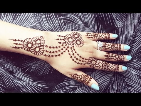 2bea09150011d Pretty Henna Design - Jewelery Inspired Mehendi Tattoo - Simple and Easy  Mehndi Pattern