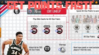 HOW TO GET ALL-STAR POINTS FAST IN NBA LIVE MOBILE 20!!!