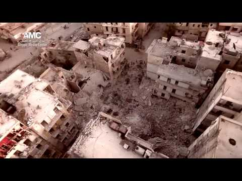 Aerial footage shows Aleppo in ruins