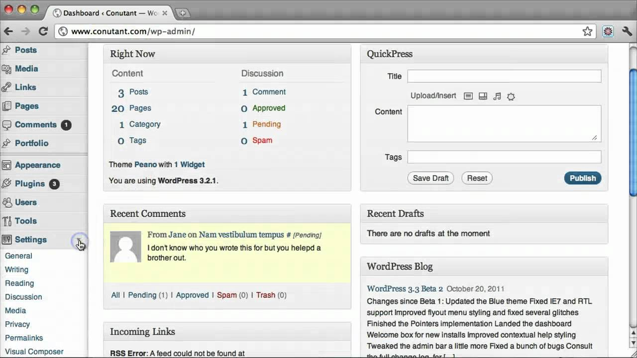 How to edit your blog name on wordpress