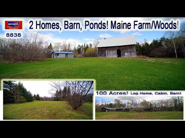 Farms For Sale In Maine Video | Coronovirus 100 Acre Real Estate, 2 Homes MOOERS REALTY #8838