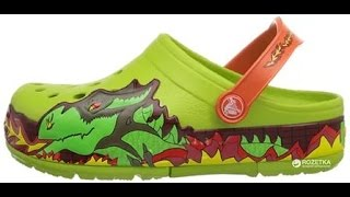 Обувь Крокс Crocs ОБЗОР - Kids' Crocs Lights Fire Dragon Clog Review(Детская обувь Крокс Ссылка на женские Кроксы Women's Crocs Isabella Sandal Shoes CROCS https://youtu.be/78iyakZ06yY., 2016-07-04T19:08:34.000Z)