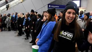 Railway Children Flash Mob - spreading a little happiness to commuters