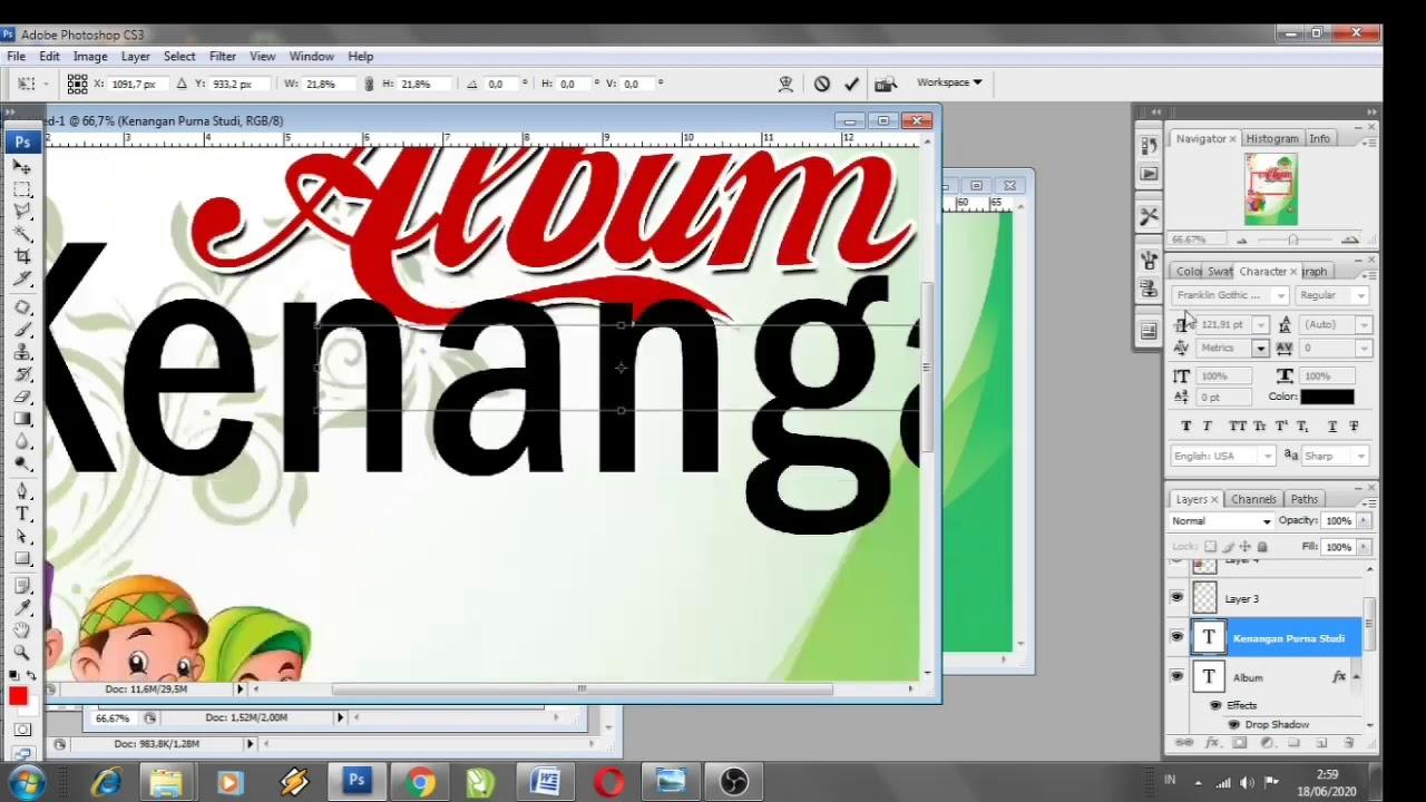 Cara Mudah Membuat Sampul Buku di Photoshop - YouTube