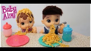BABY ALIVE Abbys and Drakes dinner night time routine baby alive videos