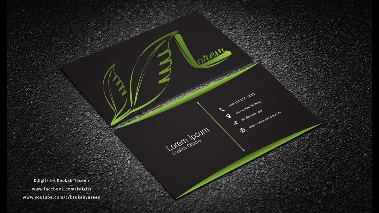 Illustrator Tutorial | Business Card Design 02 - YouTube