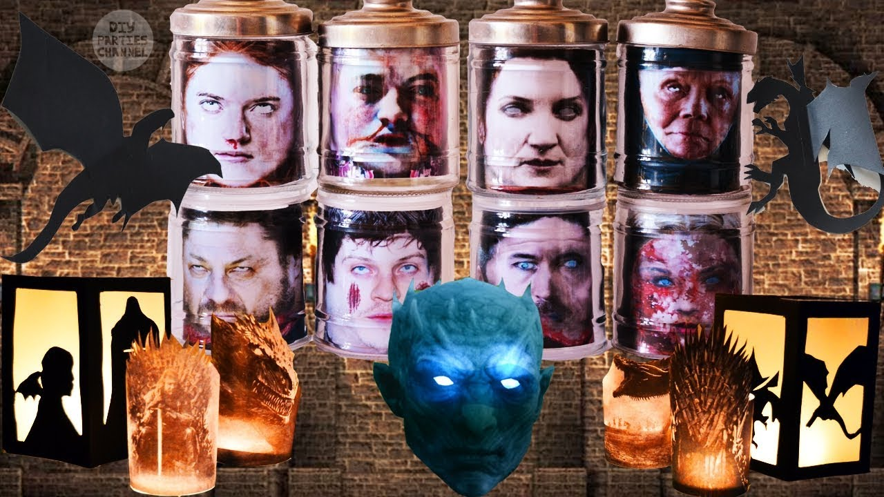 image relating to Head in a Jar Printable identified as Free of charge printables 4 Inexpensive Simple Recreation of Thrones Do-it-yourself Social gathering Craft Decorations: Brain in just a jar, lanterns