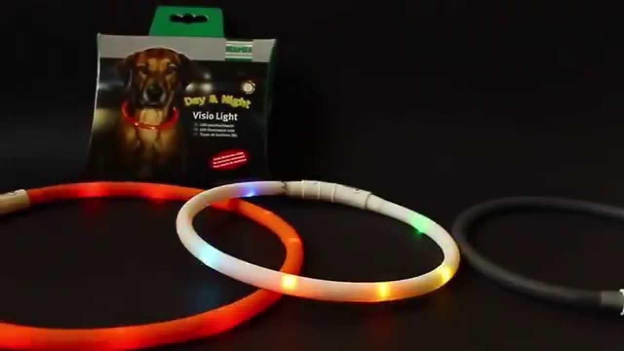 visio light led halsband voor honden pharmacy4petsnl youtube