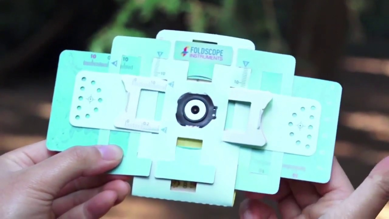 Foldscope Viewing: Directly with your eyes - YouTube