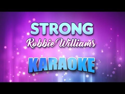 Robbie Williams - Strong (Karaoke version with Lyrics)